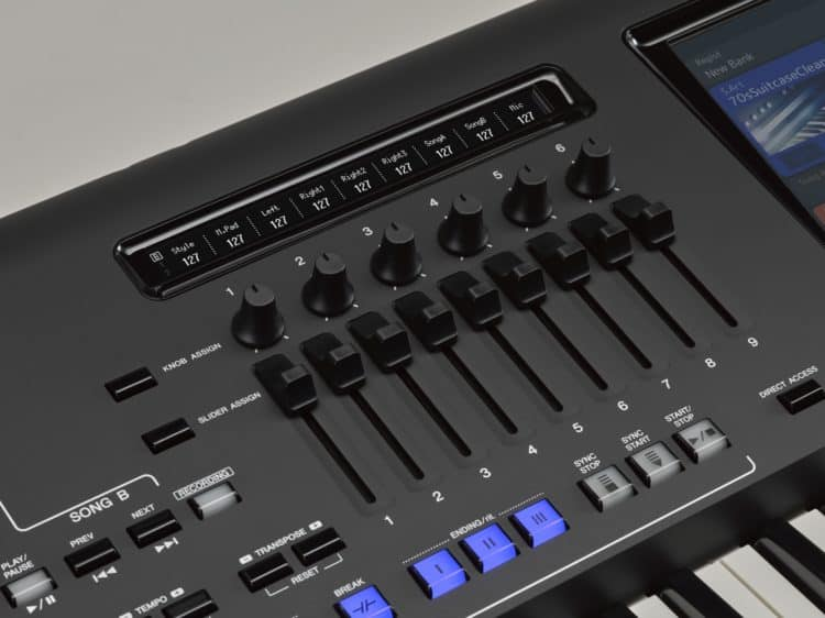 Der Mixer am Keyboard Yamaha Genos