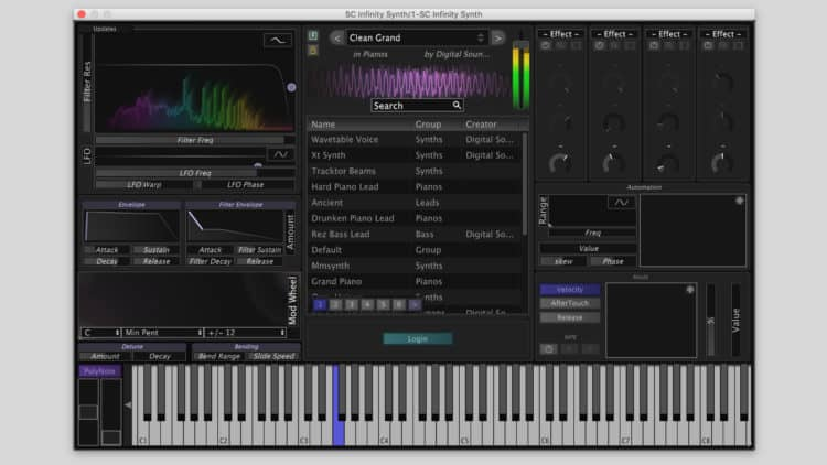 Stagecraft Infinity Synth