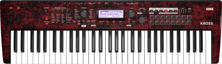 KORG KROSS 2-61-RDM (»red marble«) in limitierter Edition