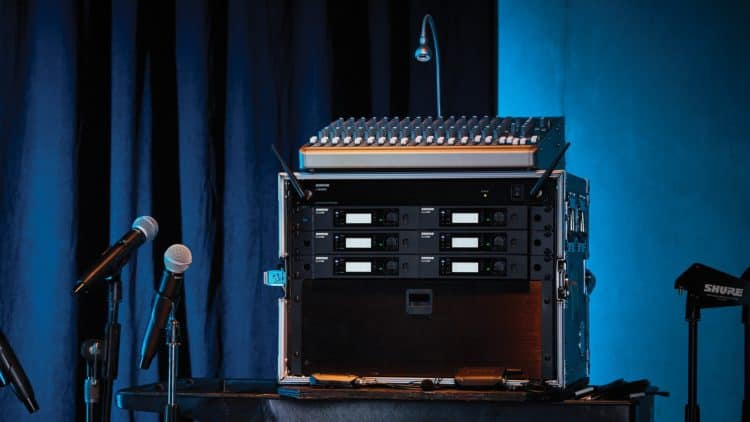Shure GLX-D Advanced Setup mit Rack