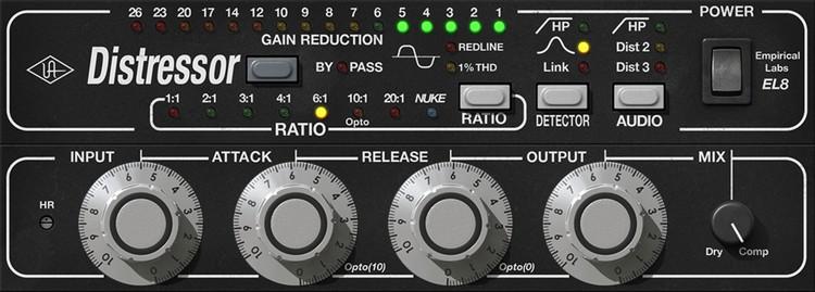 Bass komprimiert mit dem UAD Empirical Labs Distressor