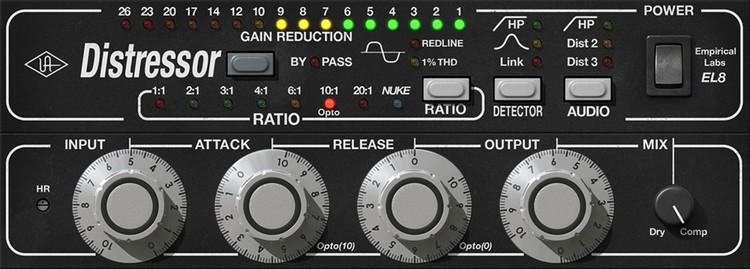 Vocals im Opto Style komprimiert mit dem UAD Empirical Labs Distressor