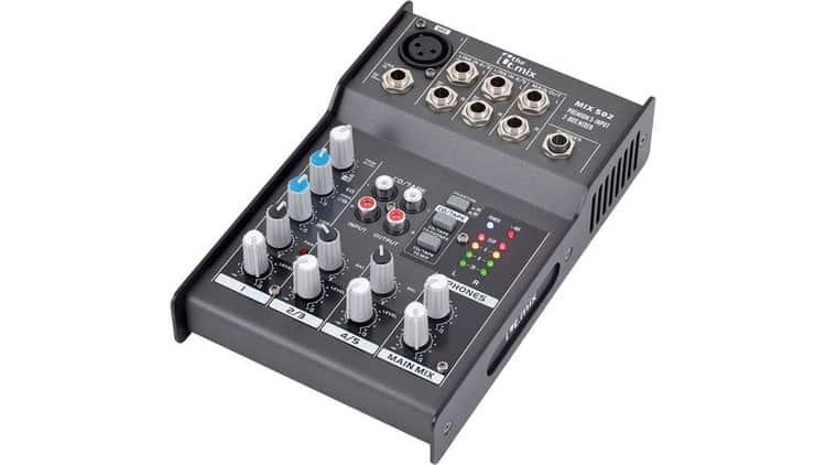 t.mix mix 502 - Mischpult zum Anschließen von XLR-Mikrofonen an den LINE-Eingang des Computers