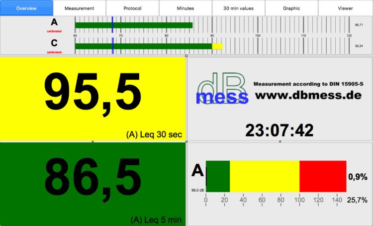 dBmess - Messsoftware bzw. Schallpegelmesser App