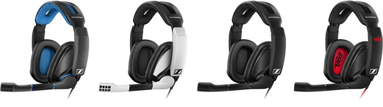 Die vier Designs in der Sennheiser GSP 300 Series