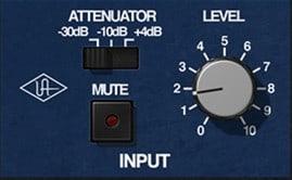 Input Attenuator - UAD Korg SDD-3000 Testbericht