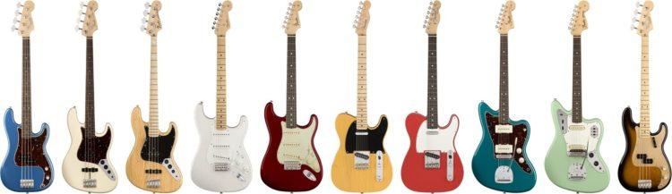Alle neun Modelle für Rechtshänder - Fender American Original