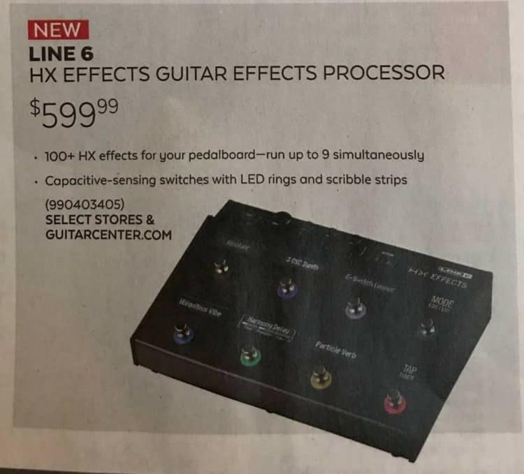 Advertisement - Line 6 HX Effects
