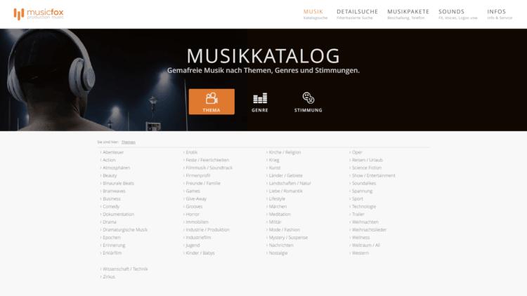 Musicfox - Gemafreie Musik