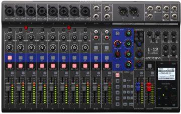 Mischpult Empfehlung für Bands - Zoom LiveTrak L-12