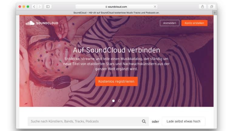 soundcloud musik hochladen