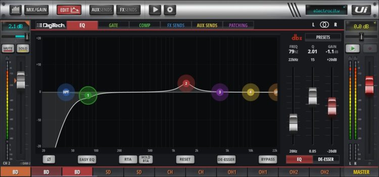 Equalizer - Erfahrungen mit dem Soundcraft Ui24R