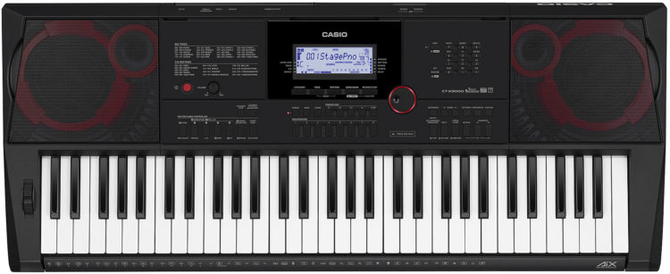 Bedienoberfläche - Casio CT-X3000