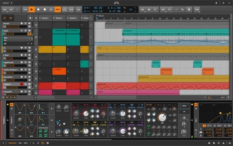 Bitwig Studio - DAWs im Vergleich mit anderer Software