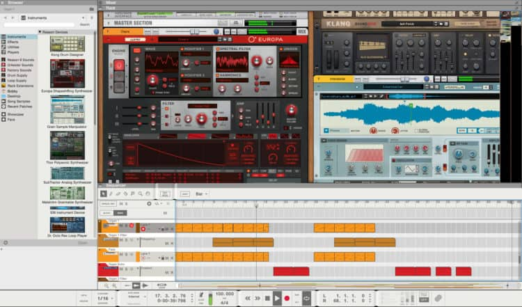 Propellerhead Reason - DAW-Software im großen Vergleich