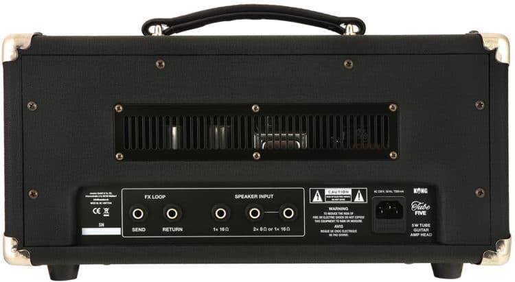 Rückseite des Gitarrenverstärkers - KONG TubeFive Head Testbericht