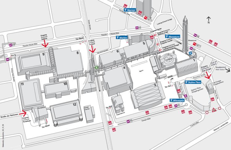 Isometrischer Geländeplan - Musikmesse 2020
