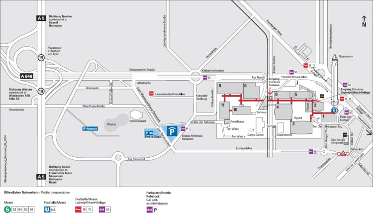 Lageplan Messe Frankfurt