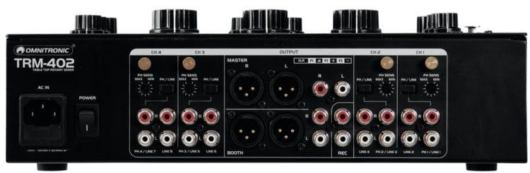Rückseite - Omnitronic TRM-402