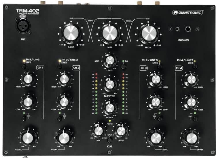 Bedienoberfläche - Omnitronic TRM-402