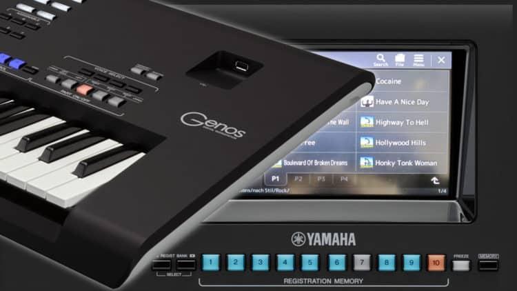 Yamaha Genos Registrierung