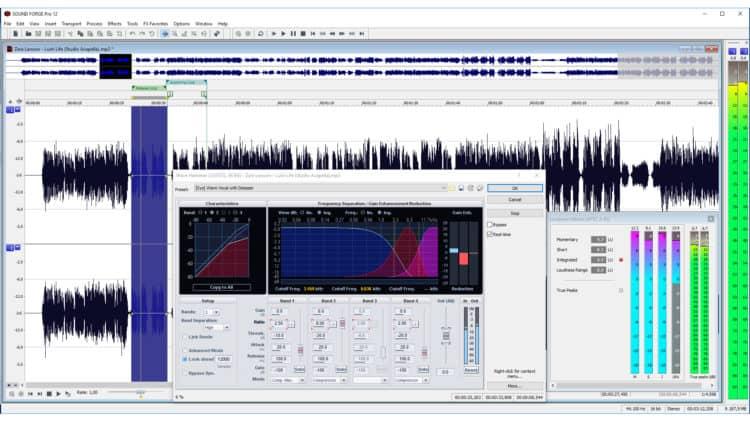 Magix Sound Forge Pro 12 Test - Benutzeroberfläche Ansicht 1