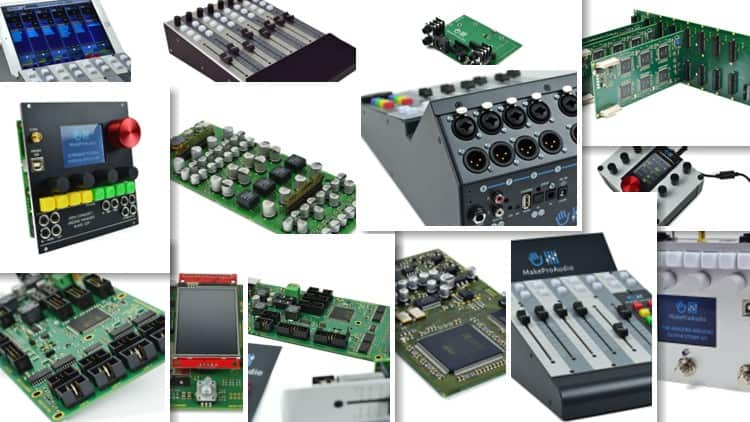 Collage - Einige der MakeProAudio Kits