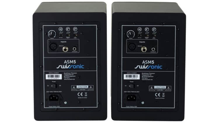 Anschlüsse (Rückseite) - Swissonic ASM 5 Review