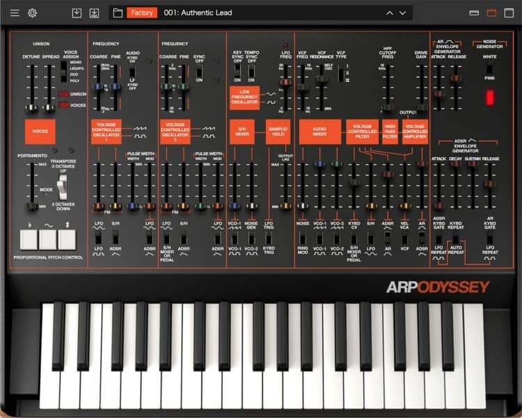 Korg Collection ARP Odyssey - Synthesizer Software