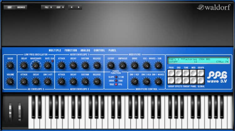 Waldorf PPG Wave 3.V - Synthesizer Software