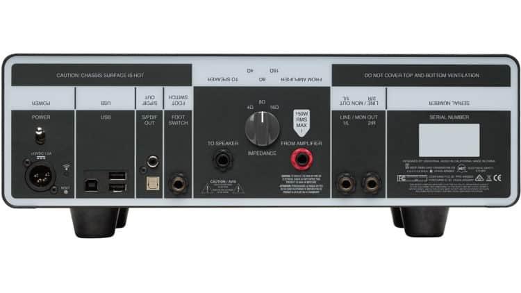 Rückseite und Anschlüsse der Universal Audio OX Amp Top Box