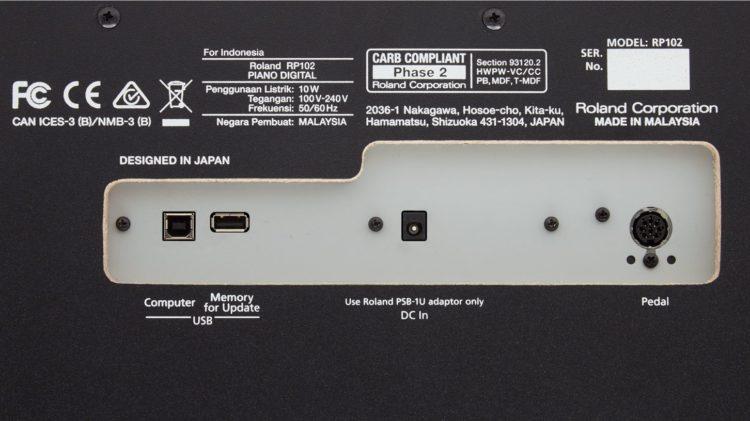 Roland RP102 Test