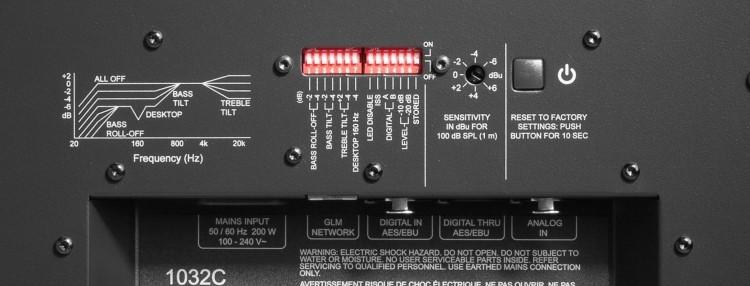 Dip-Schalter & Empfindlichkeitsregler - Genelec 1032CPM Erfahrung