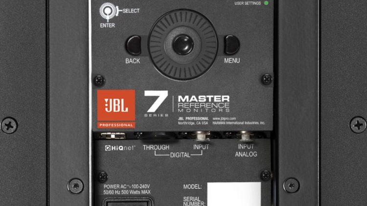 JBL 705P Testbericht - Anschlüsse