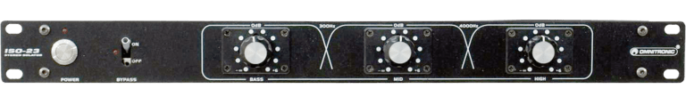 EQing für DJs - Omnitronic ISO-23FX DJ-Isolator