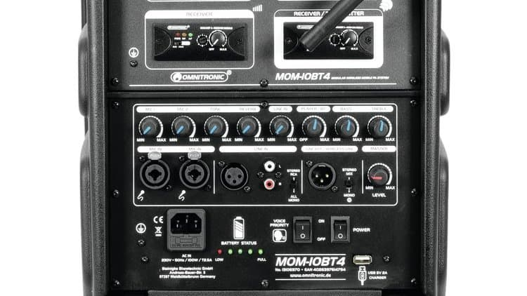 Omnitronic MOM-10BT4 Test - Rückseite
