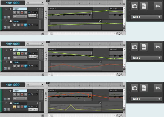 Cakewalk Sonar Mix Recall - Effekte beim Recording vs. Mixing Effekte