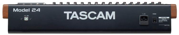 Tascam Model 24 Testbericht - Rear