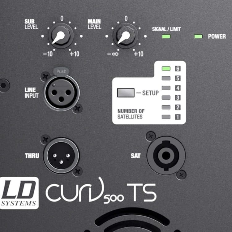 Rückseite - LD Systems CURV 500 TS Test