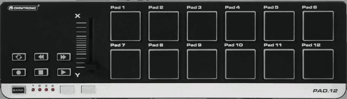 OMNITRONIC PAD-12 - Pad Controller als Podcast Equipment
