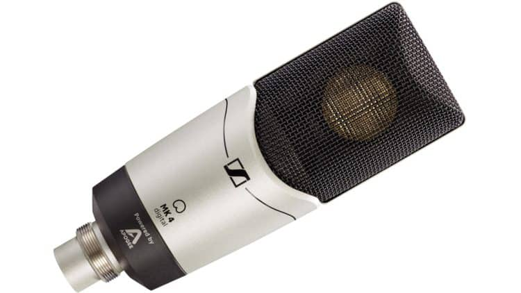 Podcast-Mikrofon mit Großmembran-Kondensatortechnik - Sennheiser MK 4 digital