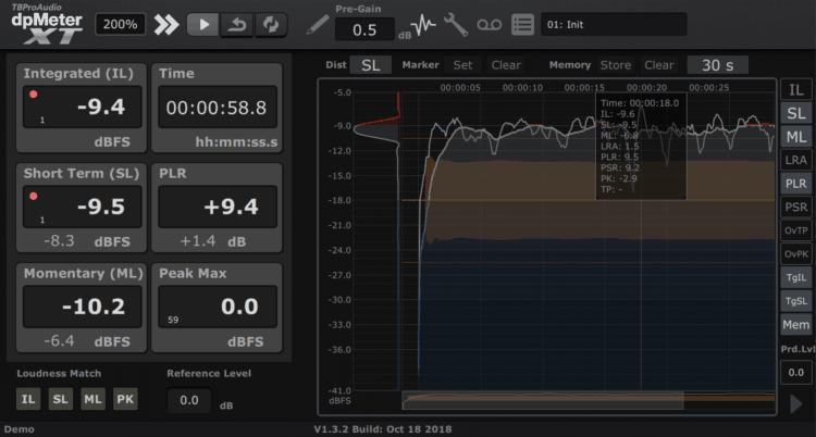 TBProAudio dpMeterXT - Mastering Plugin