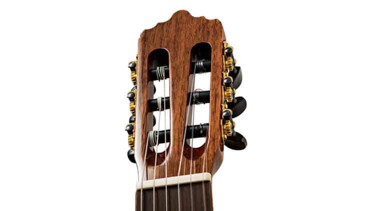 Akustikgitarre oder Konzertgitarre - Kopfplatte