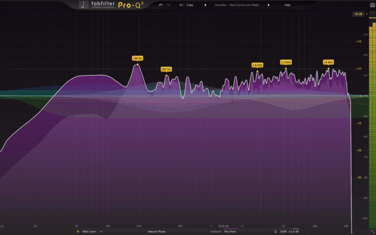 Die Funktion Spectrum Grab im FabFilter Pro-Q3 Test