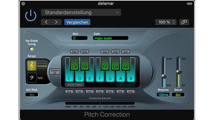 Autotune Plugins kostenlos Logic Pro X Pitch Correction