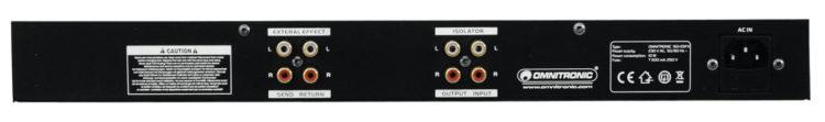 OMNITRONIC ISO-23FX Test - Rückseite