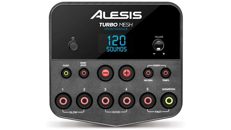 Drum-Modul des Alesis Turbo Mesh Kit