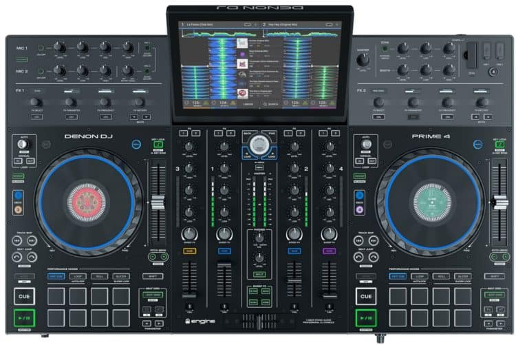 Bedienoberfläche - Denon DJ Prime 4