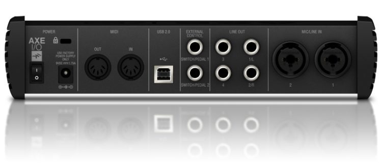 Rückseite des IK Multimedia AXE I/O