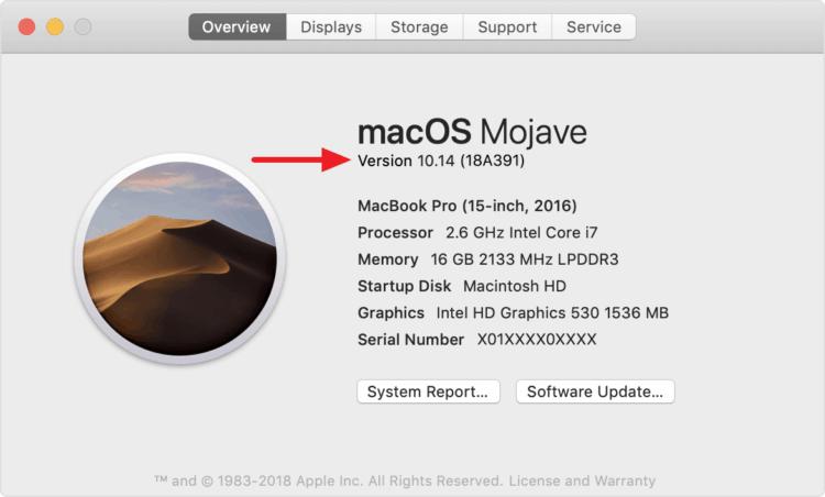macOS-Version